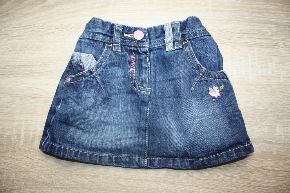 Клевая джинсовая юбочка next фото №1