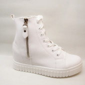 Ботинки сникерсы белые