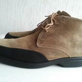 Замшевые демисезонные ботинки 44 р. Испания
