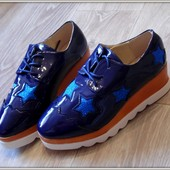 Яркие туфли на платформе синие Звезда в наличии