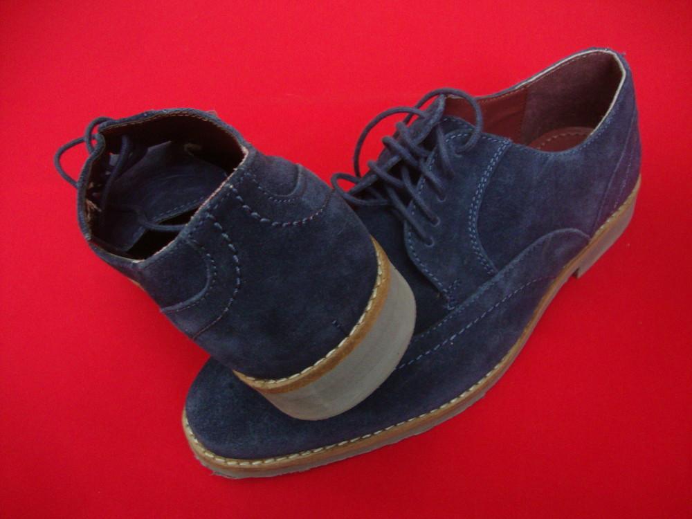 Туфли броги tu blue натур замша 42 разм фото №2