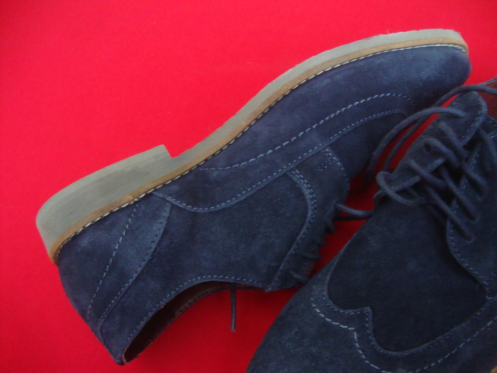 Туфли броги tu blue натур замша 42 разм фото №3