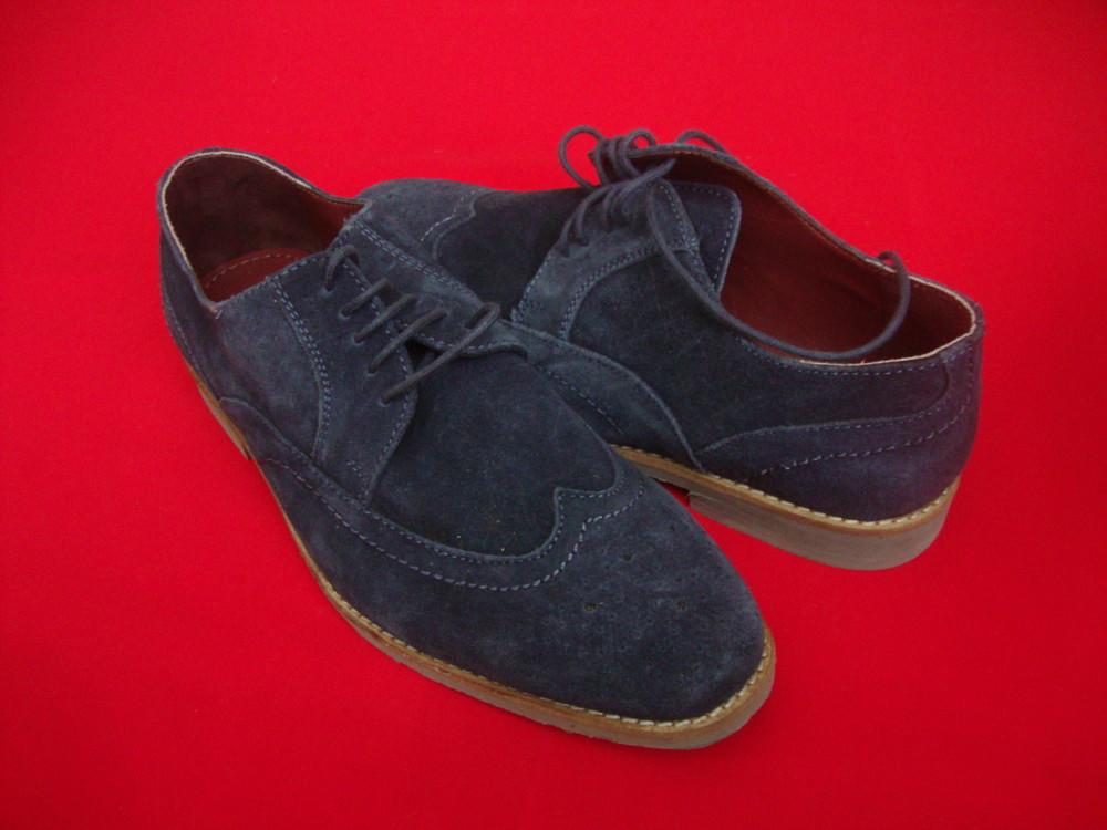 Туфли броги tu blue натур замша 42 разм фото №7
