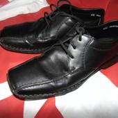 Фирменние стильние кожание брендовие туфли оригинал   Rieker Antistress.42