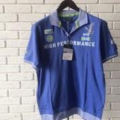 Мужская футболка - поло синяя XL