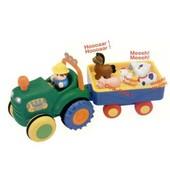Игрушка на колесах - Трактор С Трейлером на колесах, свет, озвуч. укр. яз. в нетоварной упаковке