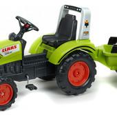 Детский трактор на педалях с прицепом Falk 2040A