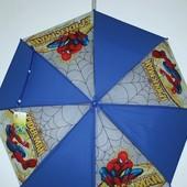 Новый детский зонт - Человек Паук - Тачки - Молния Маквин -  силиконовый - спицы метал!