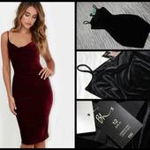 Bhs.новое.шикарное бархатное платье.черное.