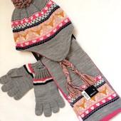 Набор шапка шарф перчатки George новый