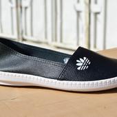 Женские мокасины слипоны адидас adidas кожа кожаные из кожи черные