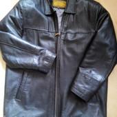 Кожаная куртка Look оригинал р.48-М