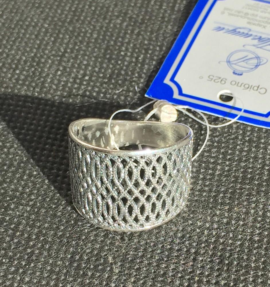 Новое красивое ажурное серебряное кольцо чернение Серебро 925 пробы фото №1