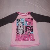р. 134-140, реглан супергерои Marvel футболка с длинным рукавом