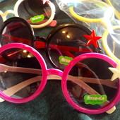 Очки детские солнцезащитные, цвета. 3-8 лет. 1 на выбор
