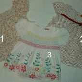 Летние натуральные блузы девочкам. Евробренды ( 2-3 г. )
