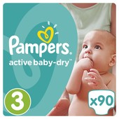 Подгузники памперсы Pampers Activ Baby Giant Pack