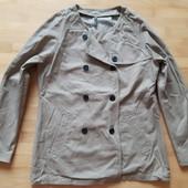 Хлопковая двубортная куртка от naf-naf! p.-40
