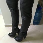 Продам кожаные ботфорты Paolo Conte