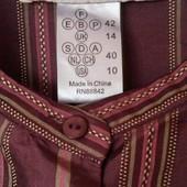 Новая шикарная блузка 100% шелк с вышивкой от Армана Вентило 42