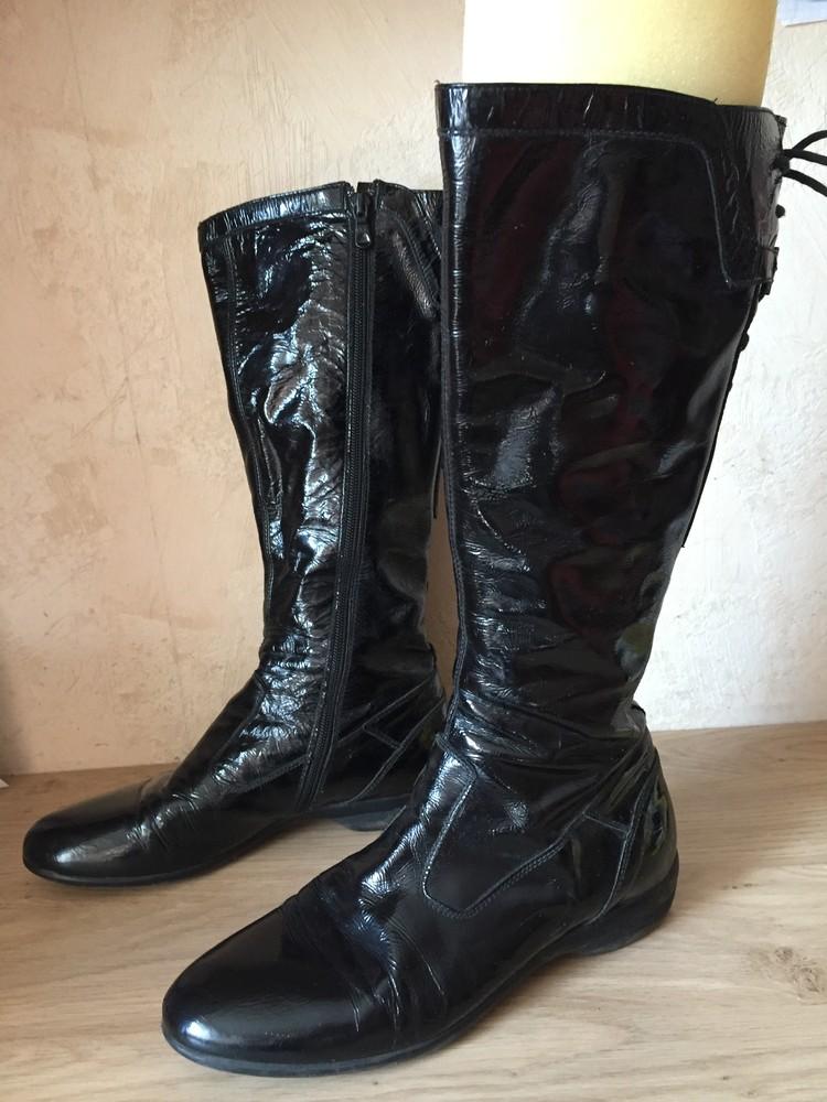 Кожаные лаковые сапоги италия 38р по стельке 25см фото №1 78fede63ef02f