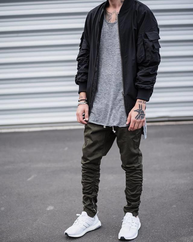 Хлопковые хип хоп брюки фото №10