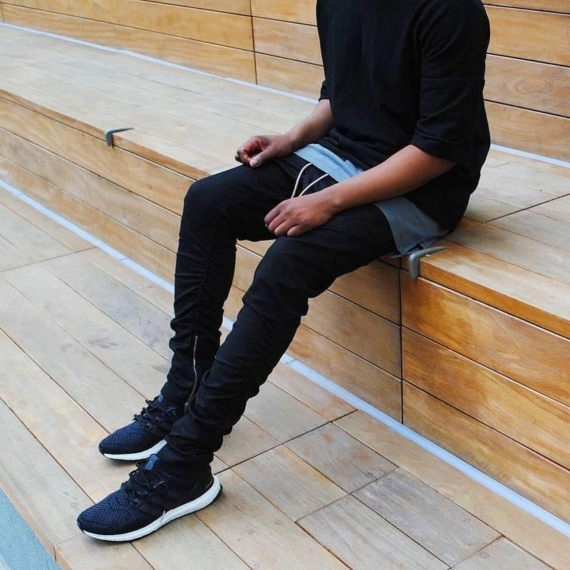 Хлопковые хип хоп брюки фото №3