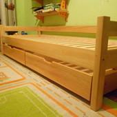 Кровать детская подростковая натуральное дерево Эконом