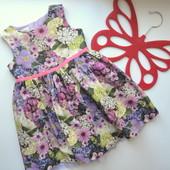 Платье в цветы BHS (12-18 мес)