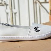 Женские мокасины слипоны кожа кожаные из кожи адидас adidas белые