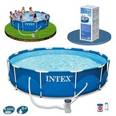 Каркасный бассейн Intex 28212 Metal Frame Pool (366х99)