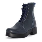 Кожаные женские ботинки на шнурках
