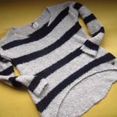 Фирменный мягенький свитер оверсайз,удлинённая спинка