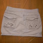 S-M, поб 46-48, юбка джинсовая по бокам на замках Fishbone