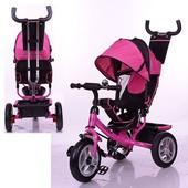 Детский трехколесный велосипед Profi Turbotrike 3113-6A розовый