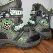 теплые зимние ботинки 16,5см