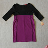Стильное  фирменое комбинированое платье