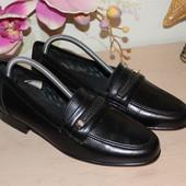 40/41 26,5см Кожаные мужские туфли лоферы Испания