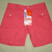 Фирменные шорты хлопок на 44-46 размер коралл