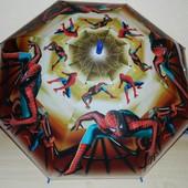 Детский новый зонт для мальчиков Человек-Паук Коричневый - поливинил - спицы метал