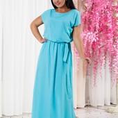 Размеры 42-56 Женское яркое длинное платье