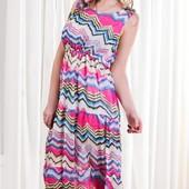 Женское шифоновое платье весна-лето