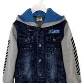 3 цвета деми джинсовые куртки на мальчика рост 122-176