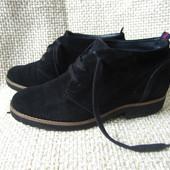 Paul green р.38 гарненькі ботинки на шнурках замшеві