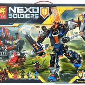 конструктор lele серия nexo soldiers 79311 робот черного рыцаря (аналог lego nexo knights 70326)