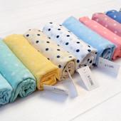Легкий весенний шарф принт горошек,выбор расцветок