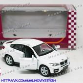 Металлическая инерционная машинка Kinsmart BMW X6, открываются двери, резиновые колеса, kt5336