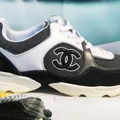 Кроссовки женские Chanel Black gray