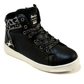 Ботинки American Club Black&Silver 31-36 размеры для девочки