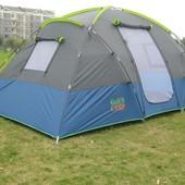 Классическая четырехместная двухслойная палатка Coleman 1100